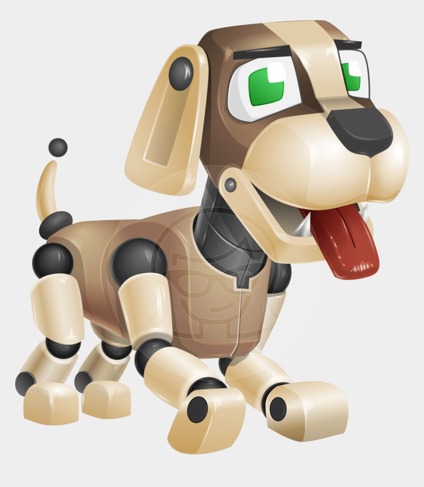 dog ear clipart, Cartoons - Barkey Is A Robot Dog Character With A Typical Doggy-shaped - Animal Robot Cartoon