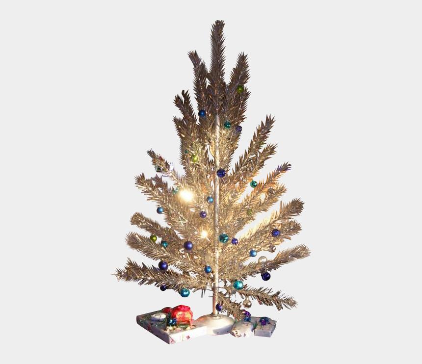 retro christmas tree clipart, Cartoons - Vintage Aluminum Christmas Tree, 6' Sparkler, 1950's - Vintage Christmas Tree Png