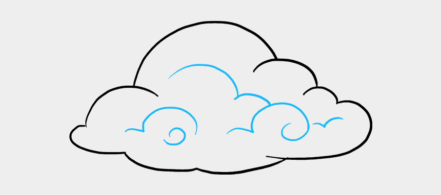 cloud shapes clipart, Cartoons - How To Draw Cartoon Clouds - Easy Drawing Of A Cloud