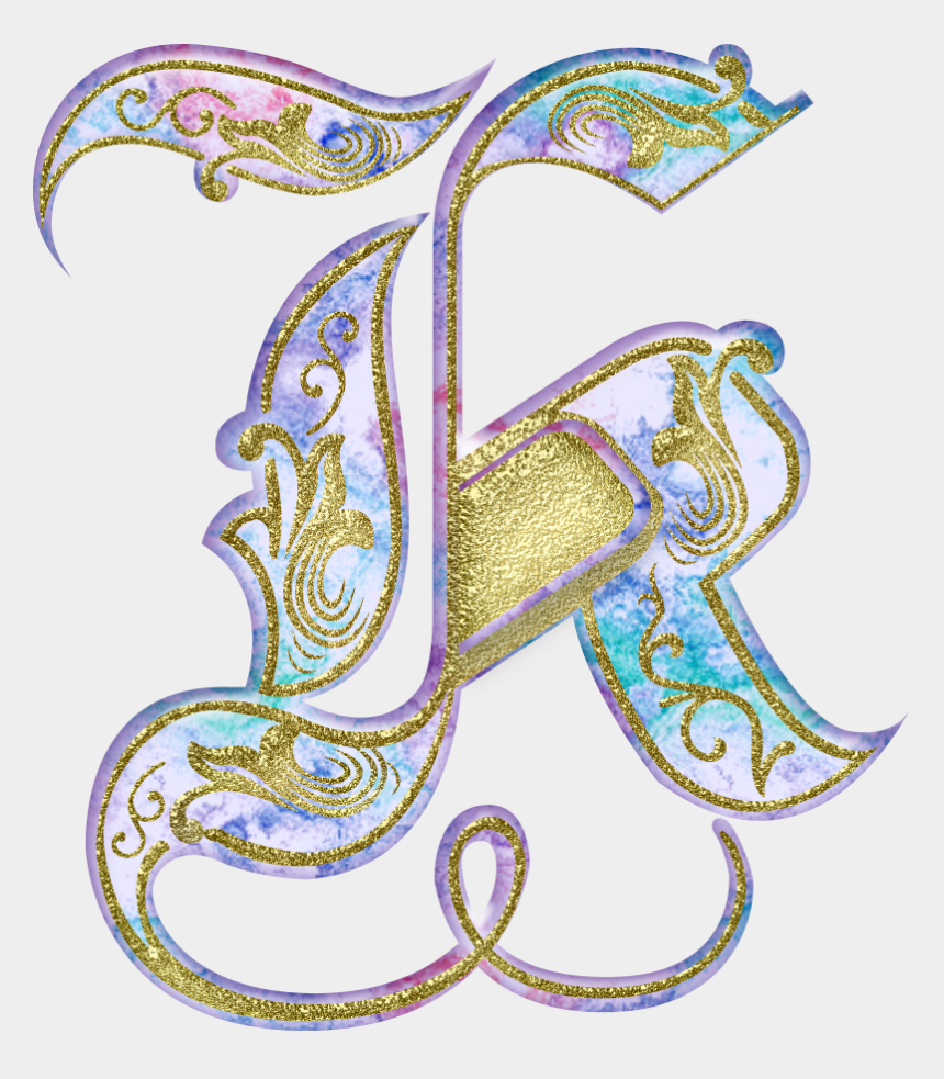 illuminated manuscript clipart, Cartoons - K Alpha Art, Illuminated - Beautiful Images Of Alphabet K