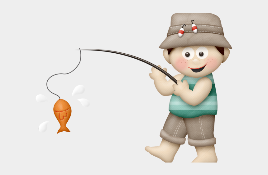 Fishing Clipart Little Boy - Fishing Clipart Png, Transparent Png - kindpng