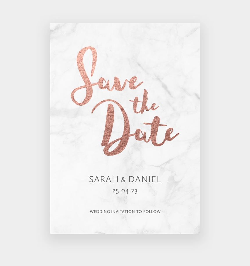 wedding save the date clipart, Cartoons - Foil Colour Rose Gold - Rose Gold Save The Date Png