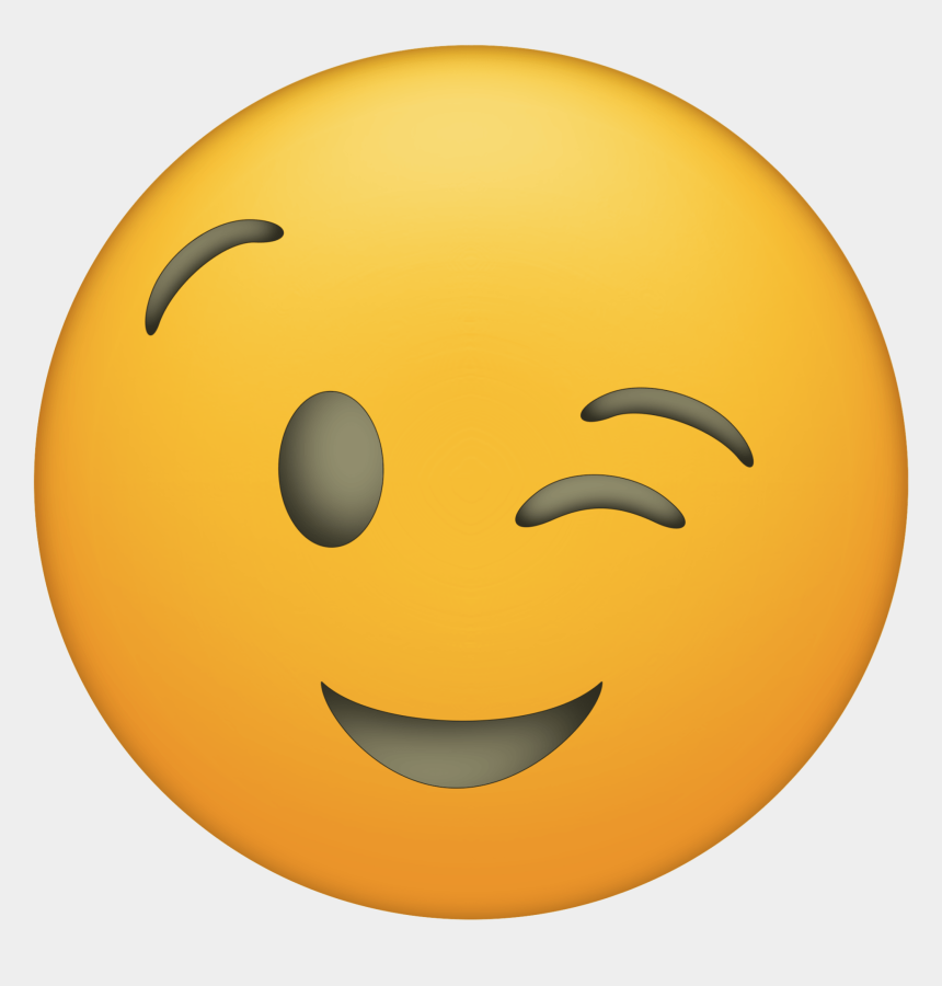 huge smile clipart, Cartoons - Click The Following Links To Print The Emoji Faces - Winky Face Emoji Png