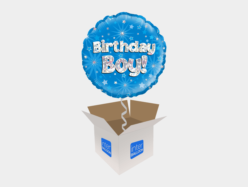 happy birthday daddy clipart, Cartoons - Birthday Boy Blue Holographic - Happy Birthday Balloons Boy