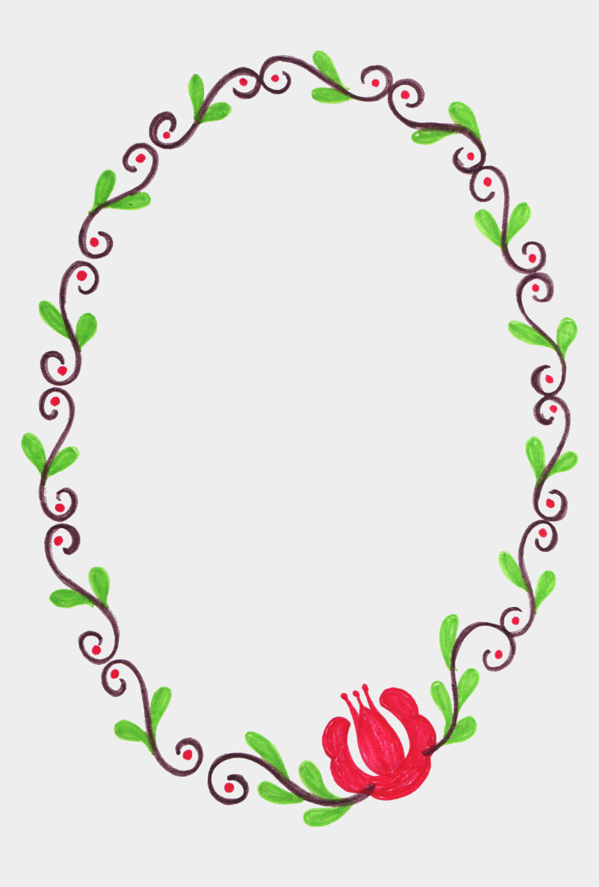 oval clipart, Cartoons - Flower Frame Png Transparent Onlygfx Com Ⓒ - Portable Network Graphics