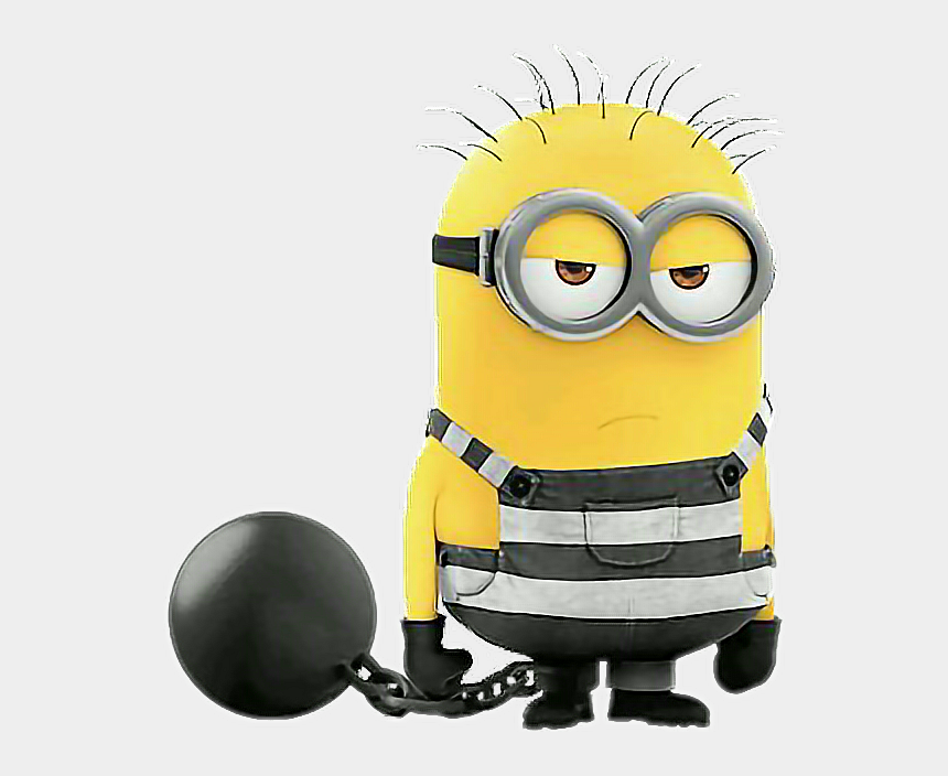 minions clipart, Cartoons - Minion Jail Angekettet Sticker By Mel Ⓒ - Despicable Me 3 Minions In Jail