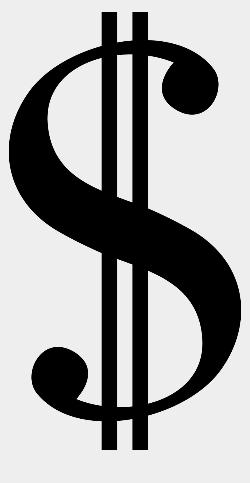 dollar sign clip art, Cartoons - Dollar Sign Serif - Dollar Sign Clipart Black And White