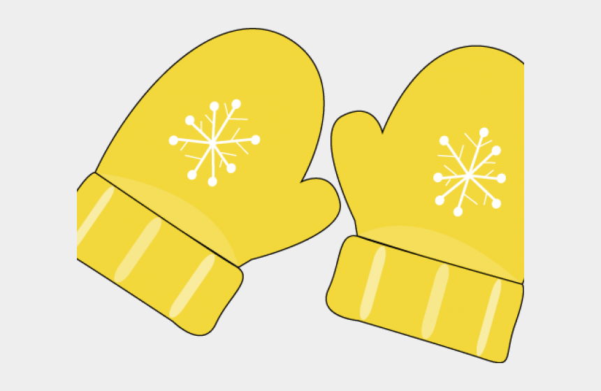 Yellow Clipart Mitten - Yellow Winter Mittens Clipart ...