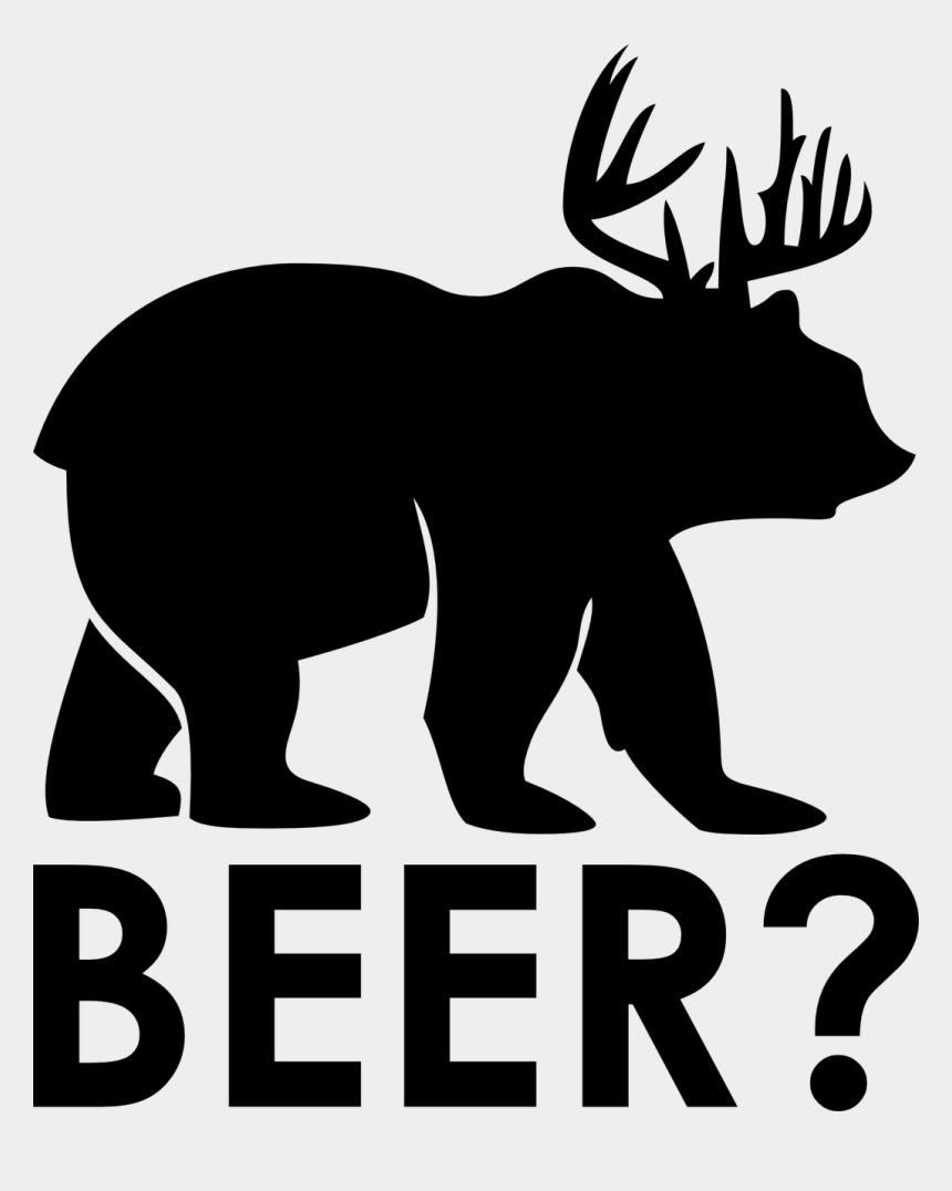 antlers clipart, Cartoons - Bear Beer Moose Antler Funny - Bear With Antlers Beer