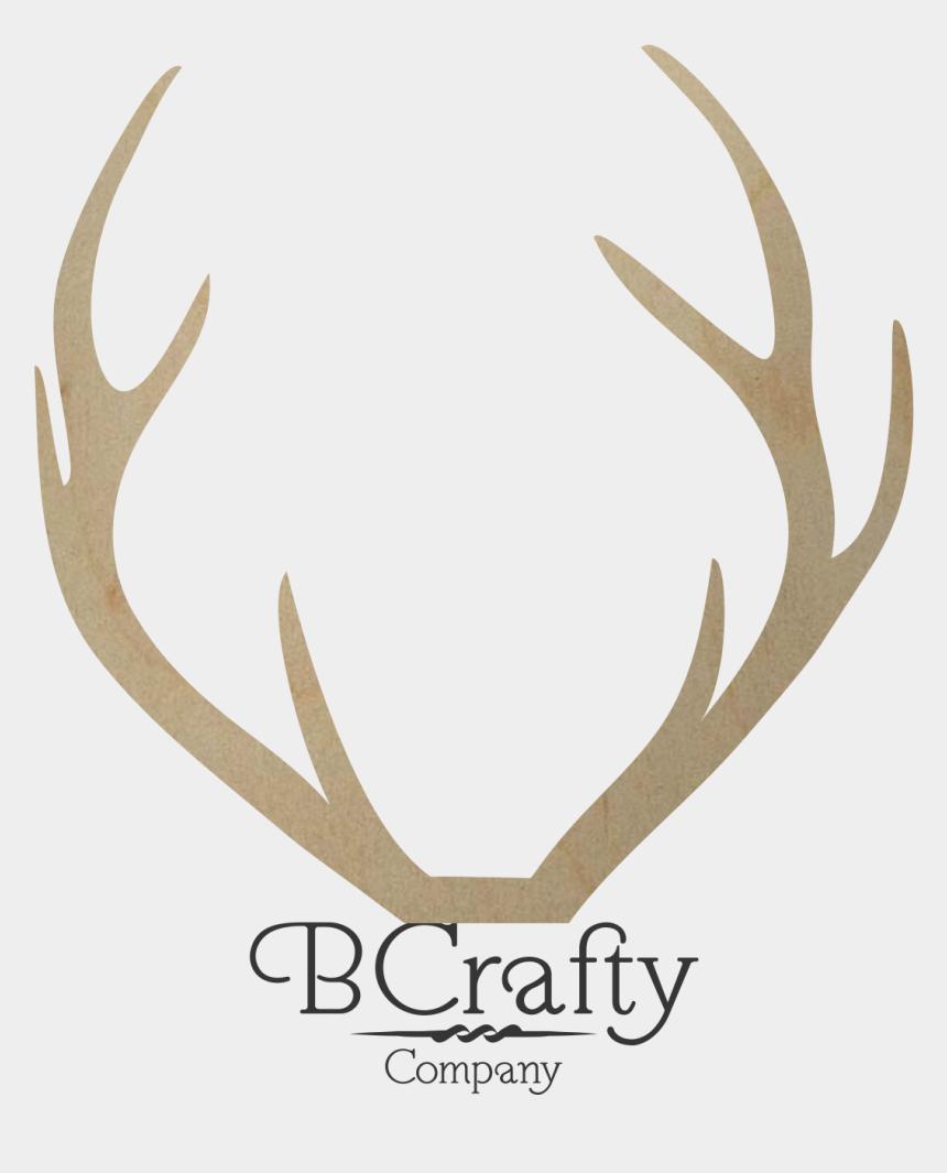 antlers clipart, Cartoons - Hd Wooden Deer Antler Shape - Stag Antler Transparent