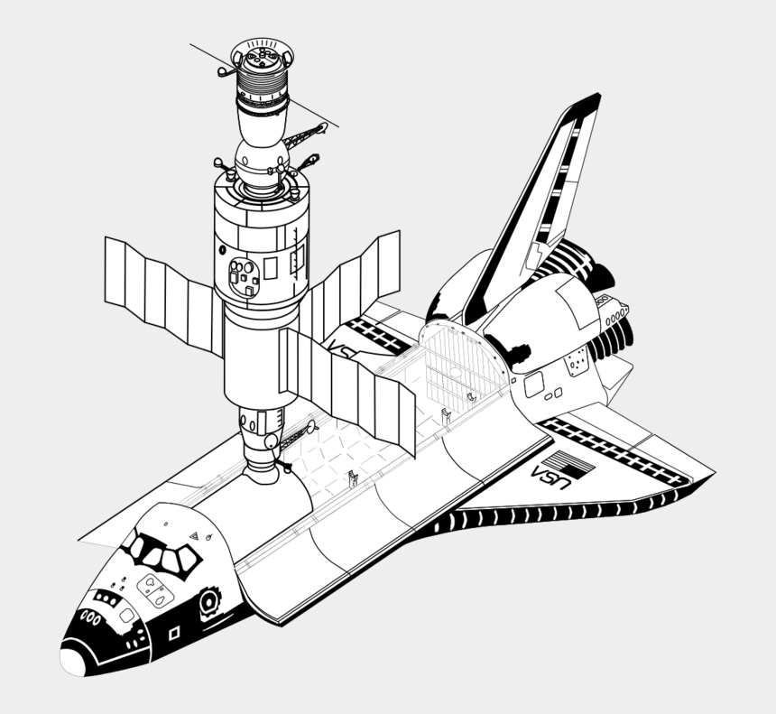 space shuttle clipart, Cartoons - Space Shuttle And Soyuz