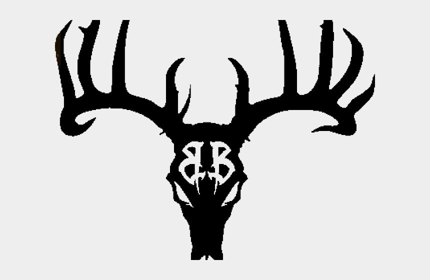 antlers clipart, Cartoons - Antler Clipart Deer Logo - Black Deer Skull Tattoo