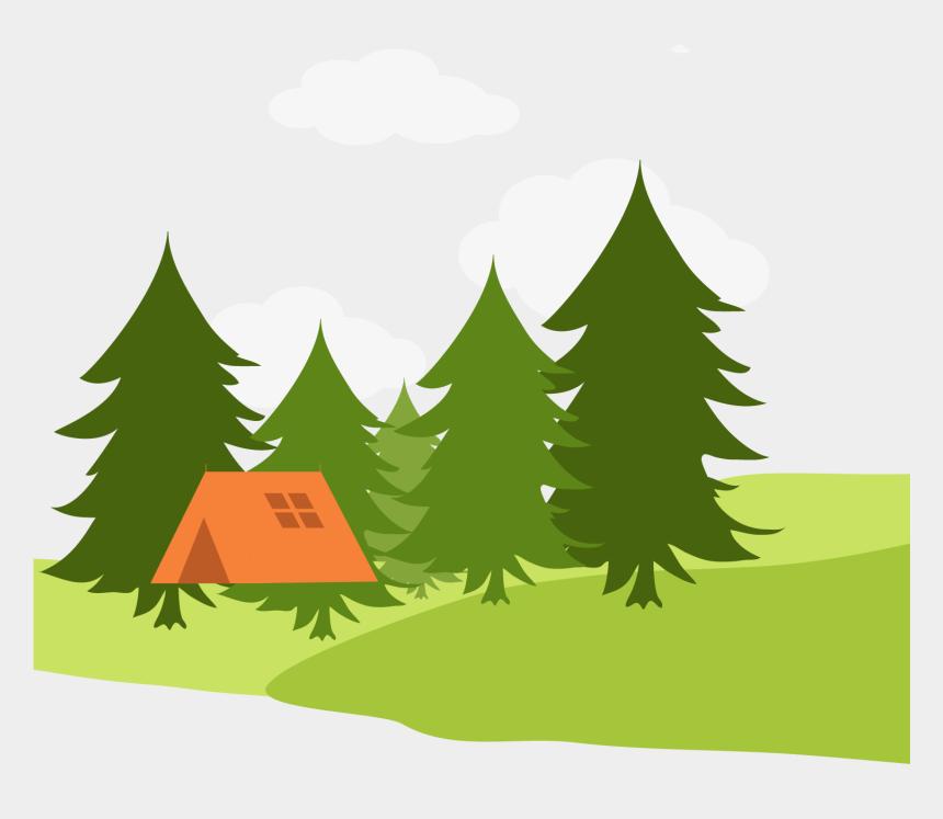 landscape clipart, Cartoons - Cartoon Landscape Drawing - Pine Tree Forest Cartoon Drawing