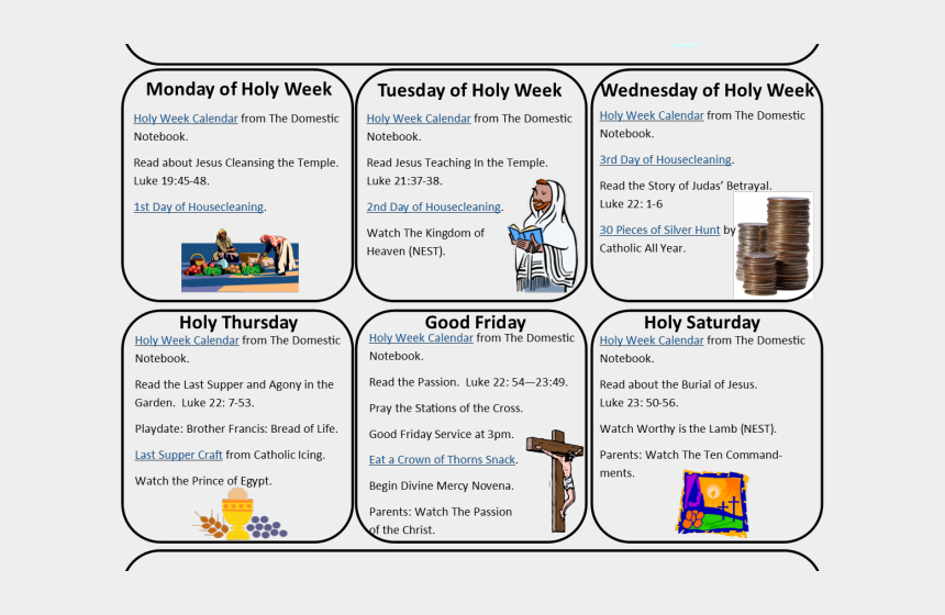 good friday clip art, Cartoons - Calendar Clipart Good Friday - Holy Week Timeline Worksheet Pdf