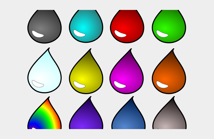 water droplet clipart, Cartoons - Water Drops Clipart Colorful - Droplet Water Purple
