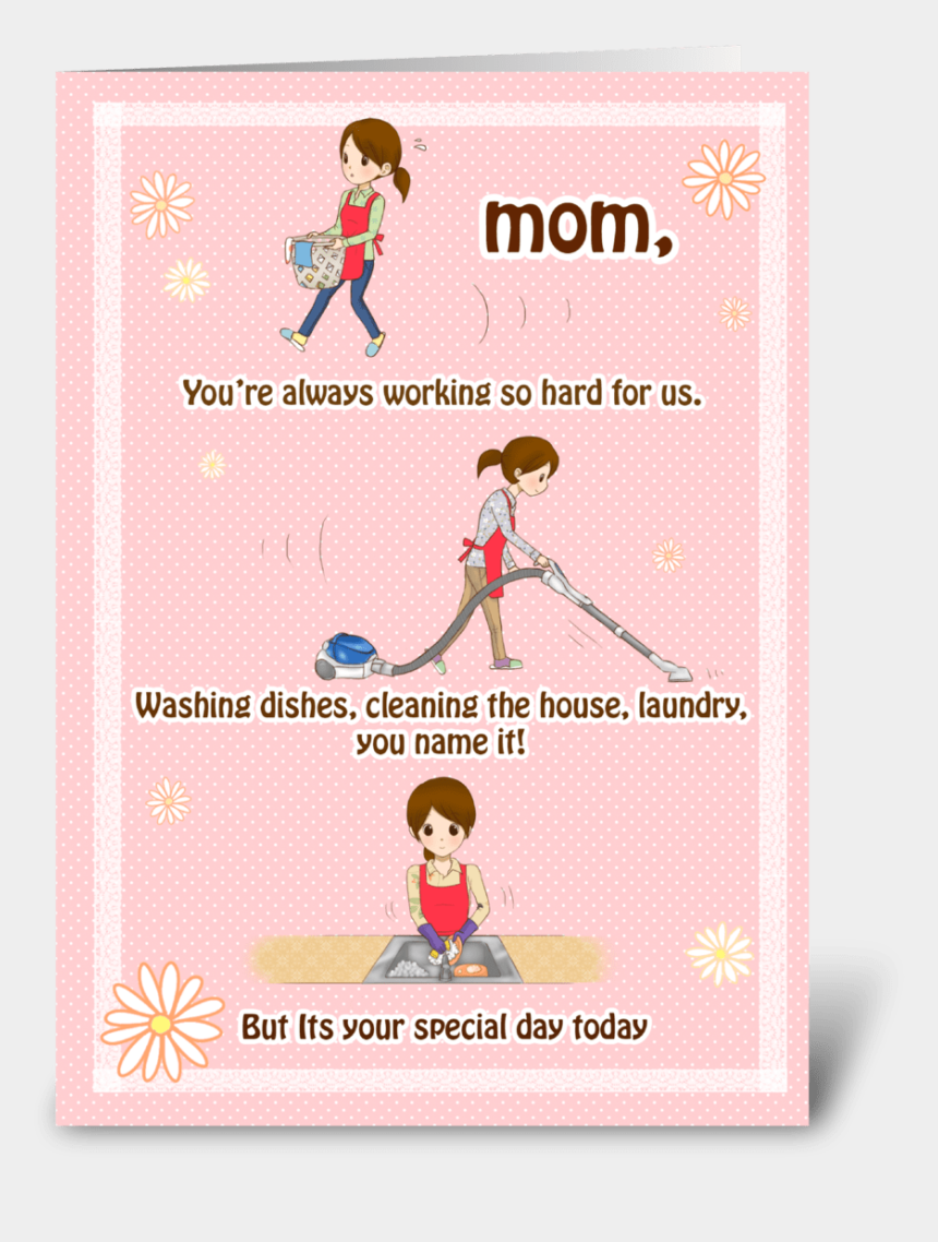 girl washing dishes clipart, Cartoons - Thanks For Everything Mom