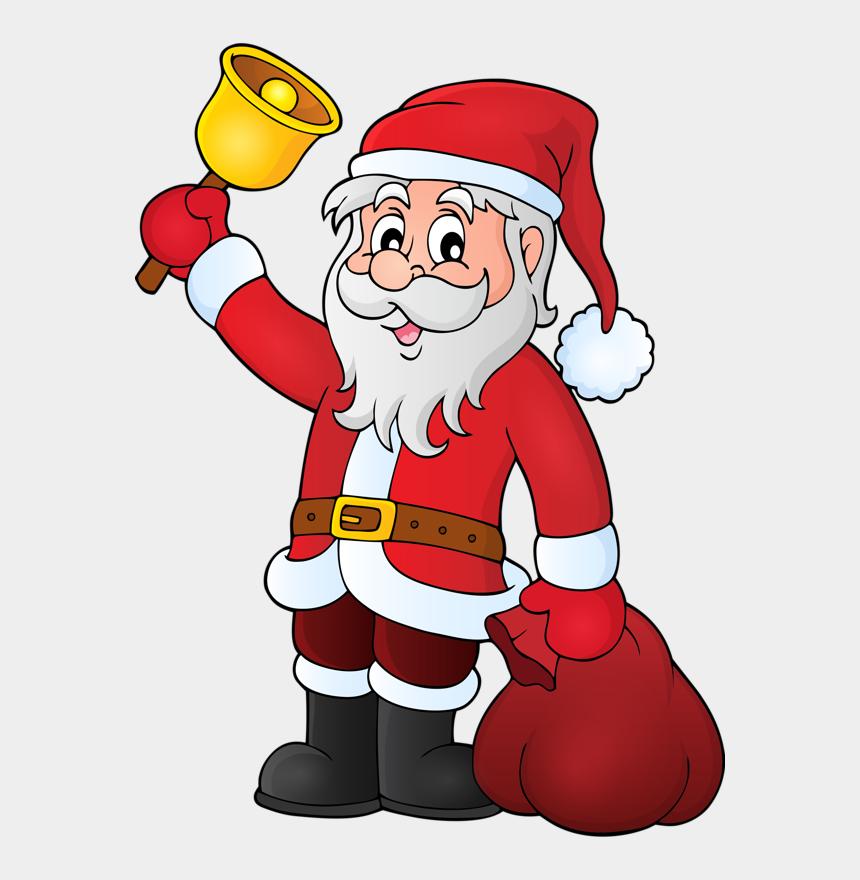 Pere Noel Santa Christmas Santa Claus With Bell Cliparts Cartoons Jing Fm