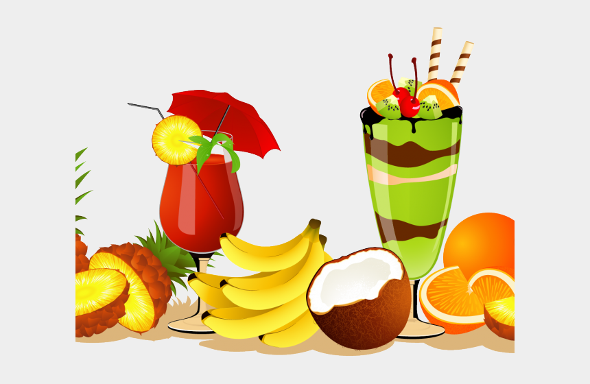 fizz clipart, Cartoons - Juice Clipart Beach Drink - Vector Fruits Juice Png