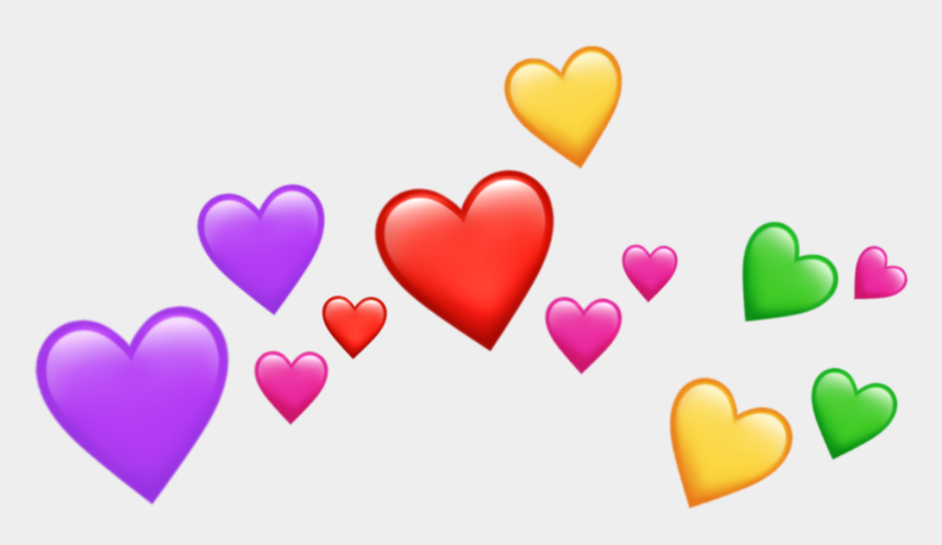 heart emoji clipart, Cartoons - #freetoedit#emoji #emojis #heart #crown #hearts - Transparent Emoji Hearts Png