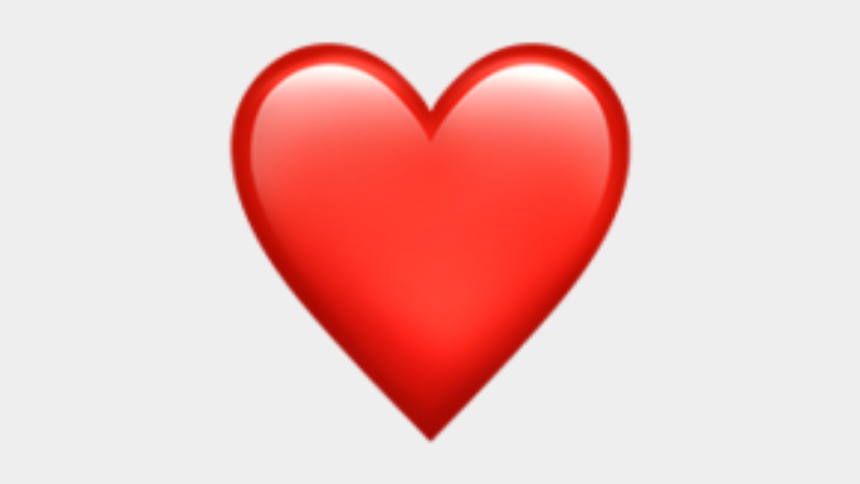 heart emoji clipart, Cartoons - Red Heart Emoji Png - Whatsapp Emoji Heart Png