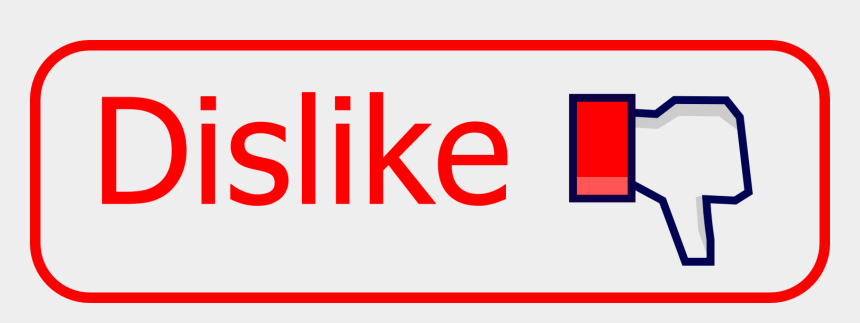 likes and dislikes clipart, Cartoons - Free Icons Png - Red Dislikes Button Transparent