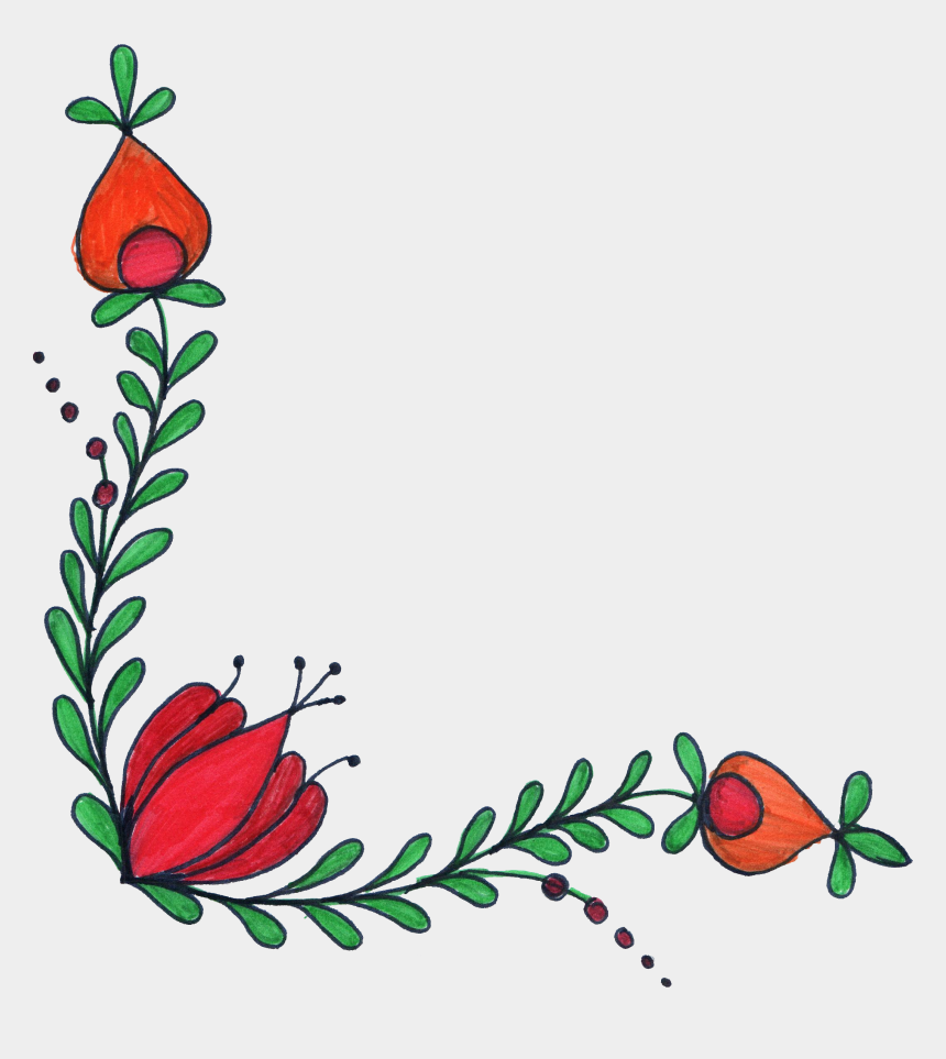rose corner border clipart, Cartoons - File Format Png File Size 1 79 Mb Free Flower Corner - Corner Transparent Background Flower Border Transparent