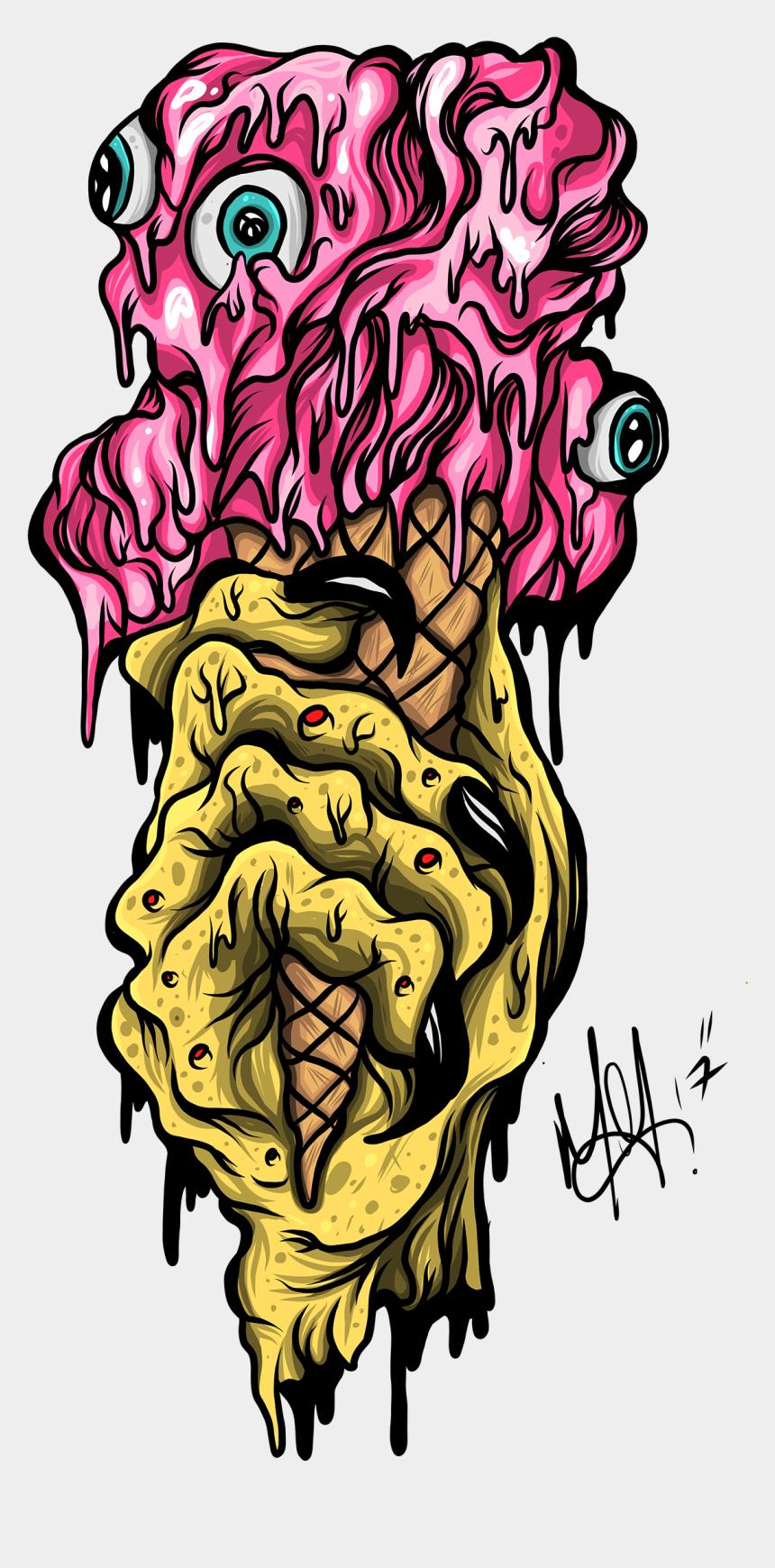 zombie head clipart, Cartoons - Zombie Clipart Ice Cream - Illustration