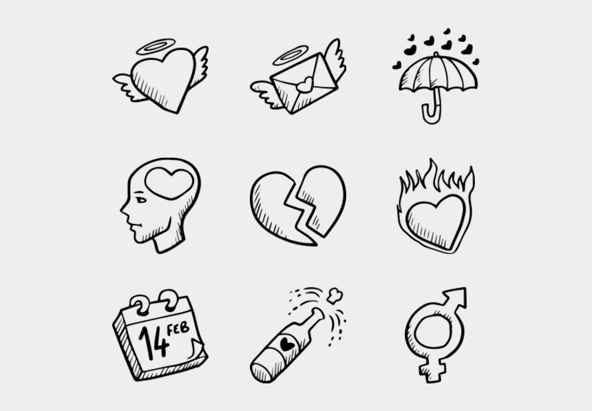hands making a heart clipart, Cartoons - Hand Drawn Love Elements - Hand Drawn Icon Png