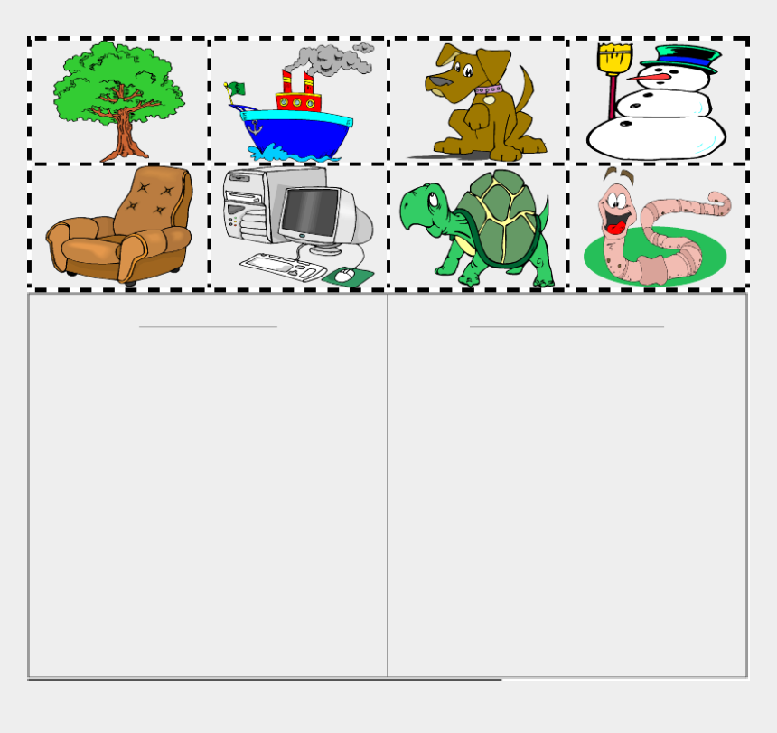 living and nonliving clipart, Cartoons - Try The Given Exercise - Worksheets For Living And Non Living Things