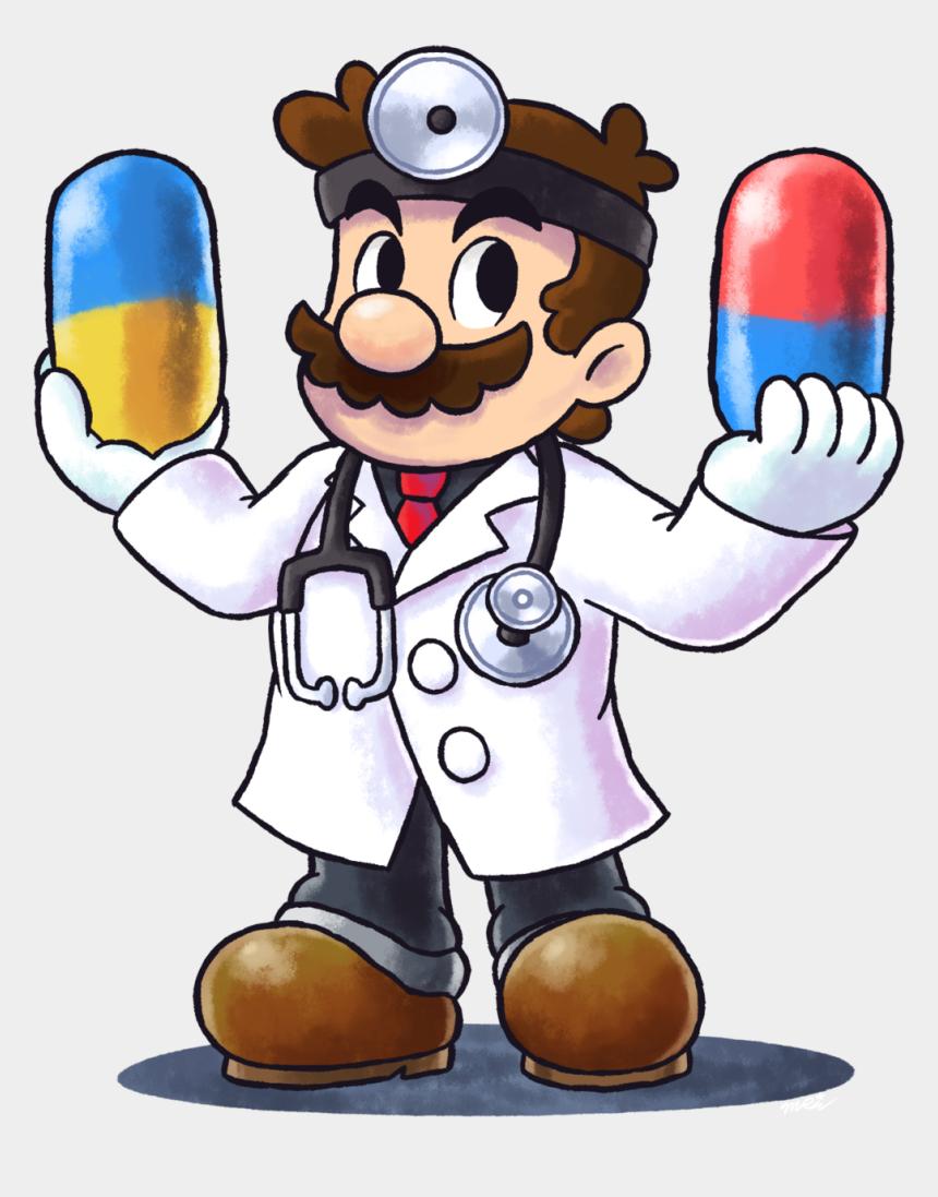 doctor head mirror clipart, Cartoons - Dr-mario