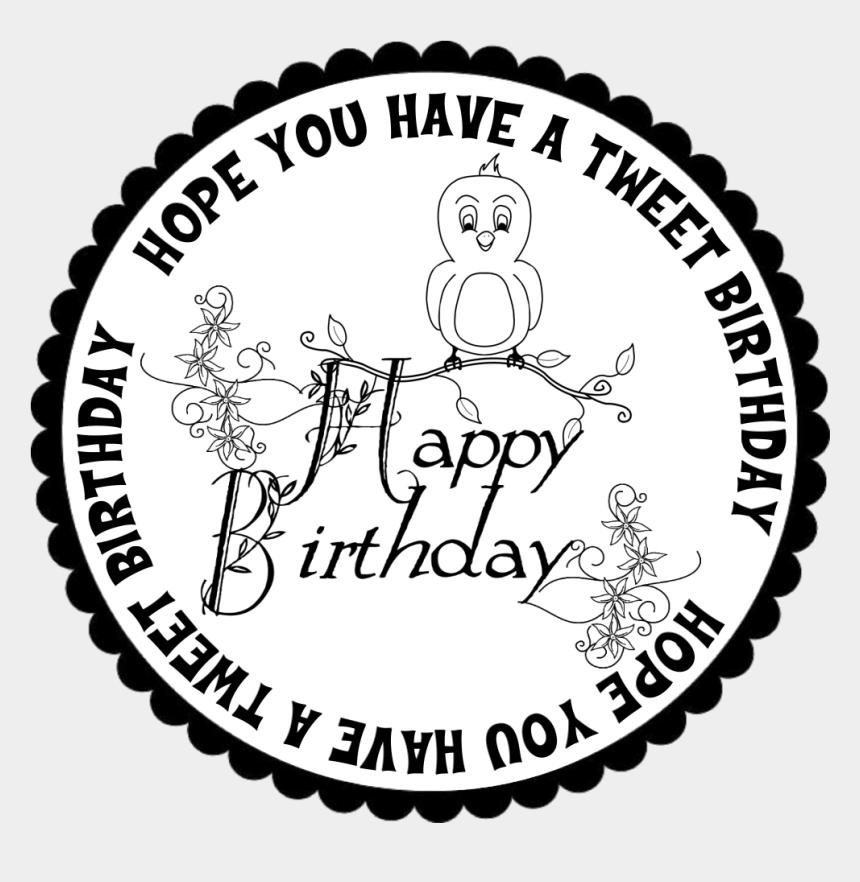 happy birthday pastor clipart, Cartoons - Happy Birthday Circle - Free Digital Stamps