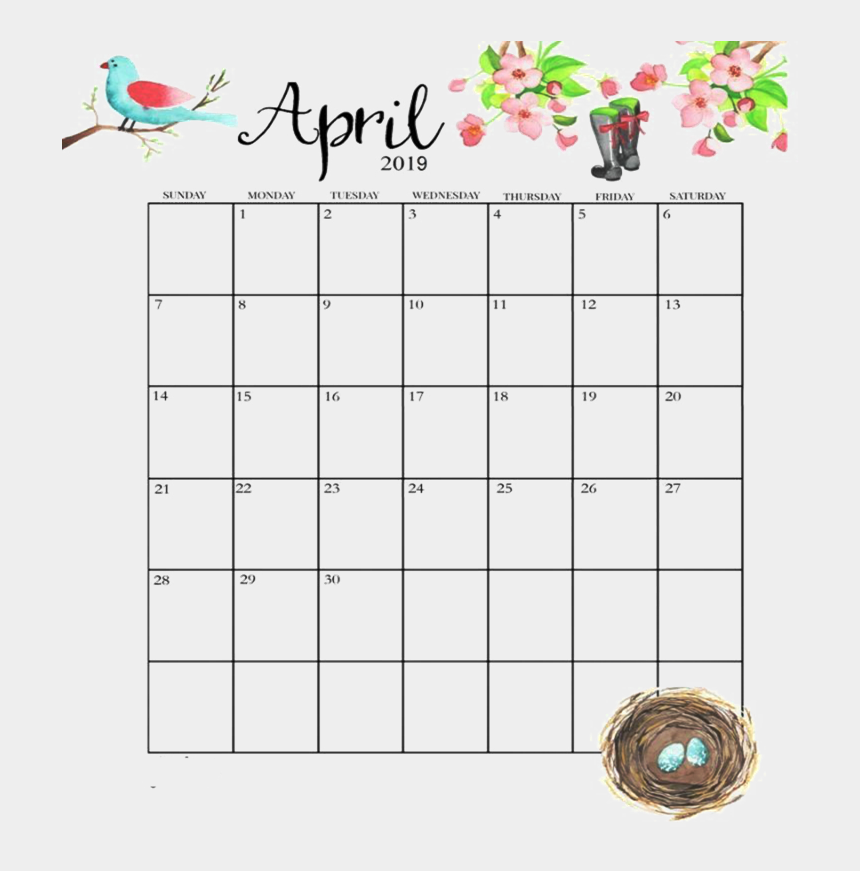 image regarding Apr Calendar Printable titled April Calendar Png Graphic Report - Lovable April 2019 Calendar