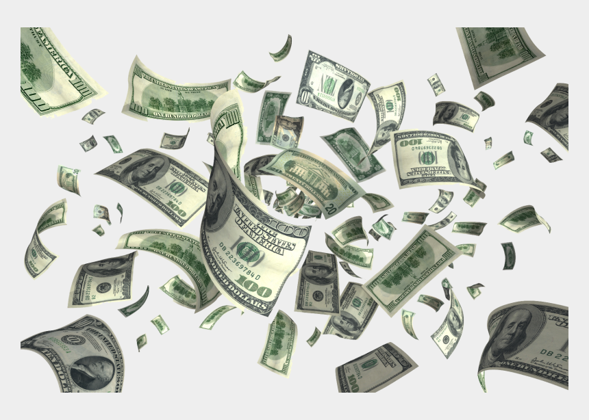 hundred dollar bill clipart, Cartoons - Dollar Png Transparent Images - Money Falling Gif Png