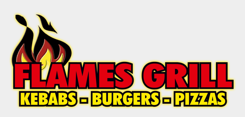 takeaway clipart, Cartoons - Clipart Flames Grill Flame - Flames Grill Logo
