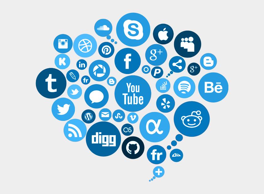 social network clipart, Cartoons - Social Media Free Png Image - Transparent Background Social Media Png