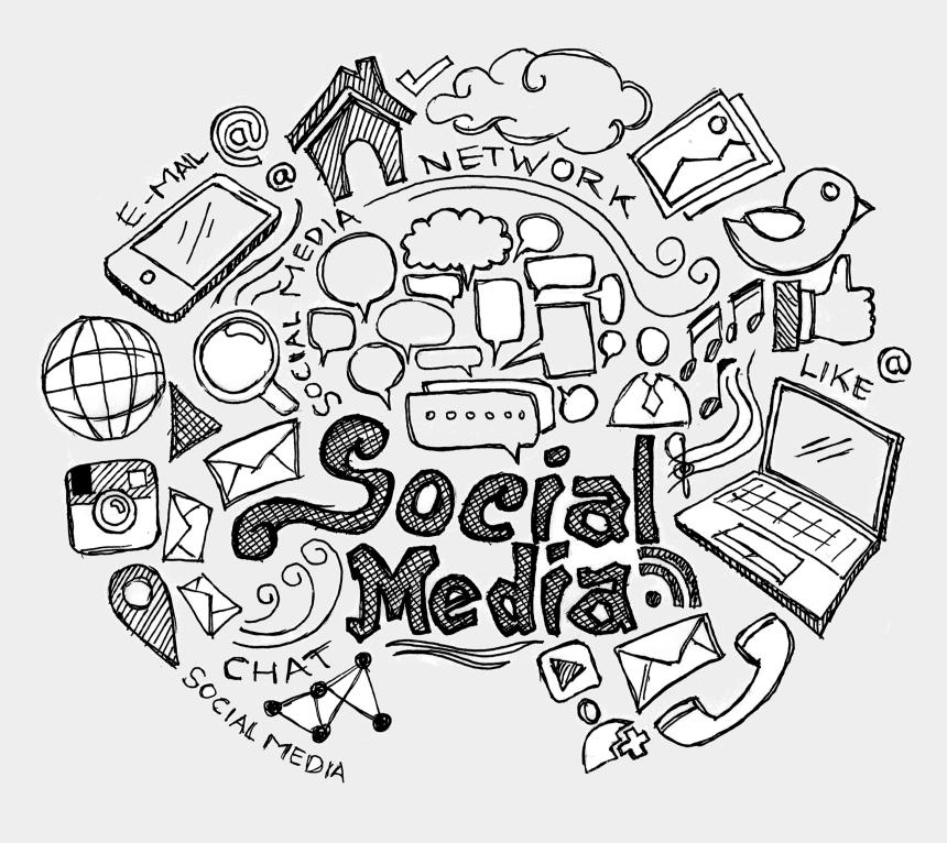 social network clipart, Cartoons - Pebble Ltd Services Social Media Services - Social Media Doodles Png