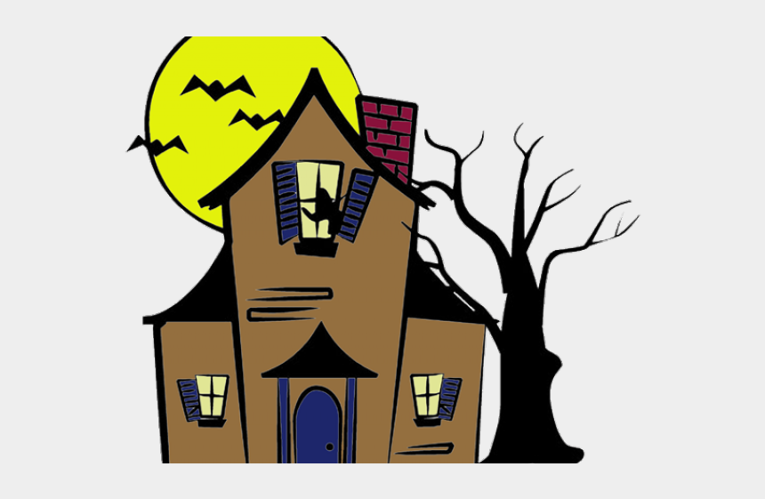 haunted house clipart png, Cartoons - Haunted House Drawing Easy