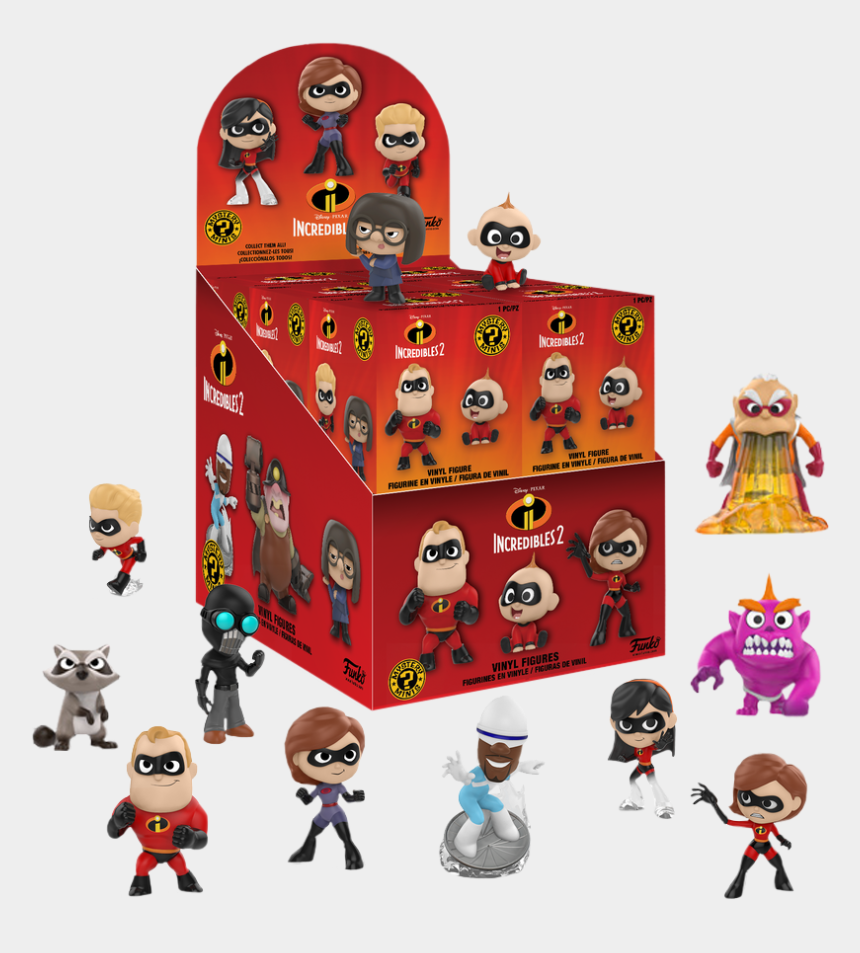 jack in the box toy clipart, Cartoons - Blind Box Figures - Funko Mystery Minis Incredibles 2