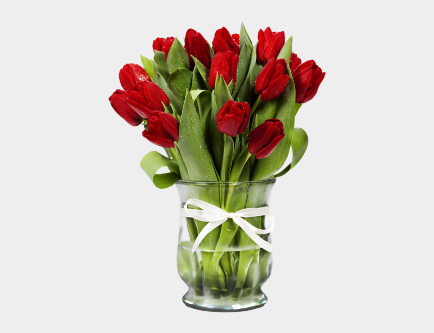 tulip bouquet clipart, Cartoons - #vase #bouquet #red #tulips #tulip #flower #flowers - Red Rose Day Images Download