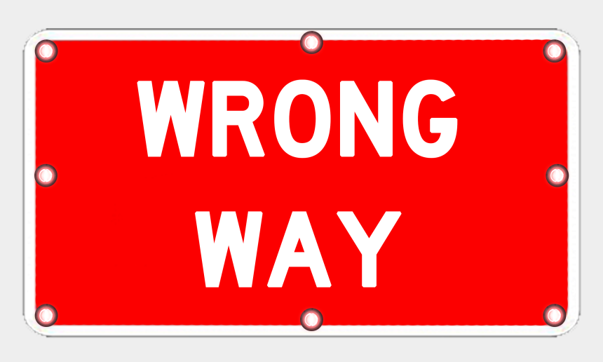 wrong way clipart, Cartoons - Image Logo For Lighted Roadway Signs - Sign