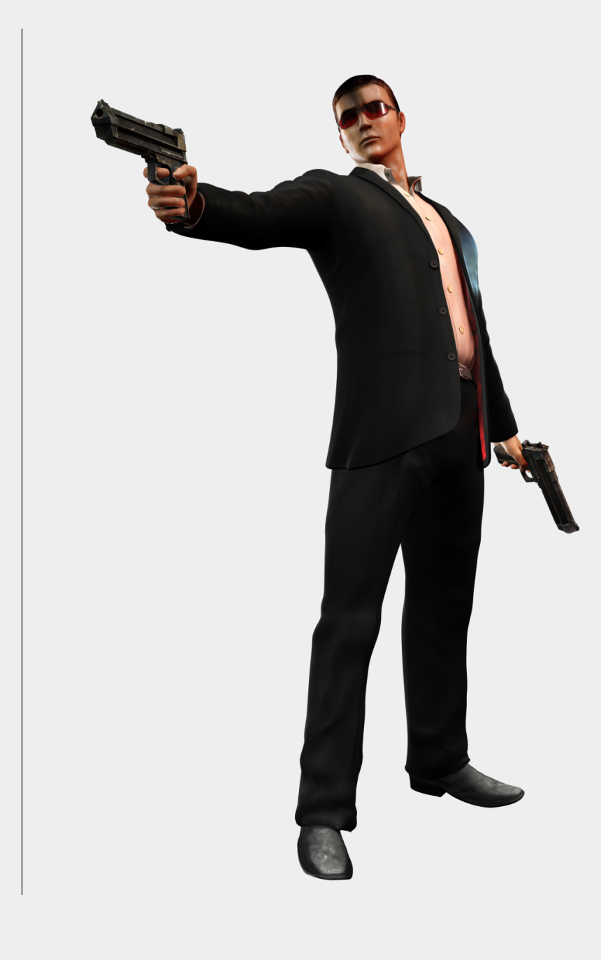man with gun clipart, Cartoons - Agent Png Clipart - House Of The Dead Overkill Agent G