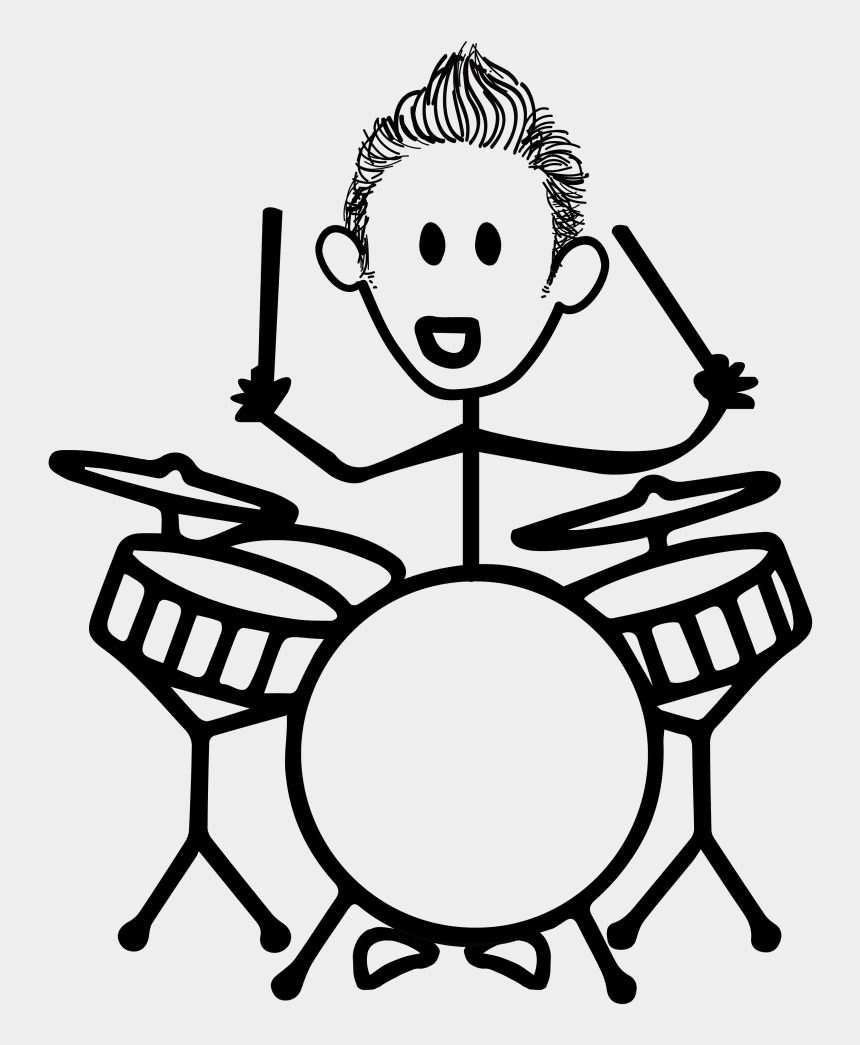 couple clipart stick figure, Cartoons - Big Worksample Image - Boy Playing Drums Drawing