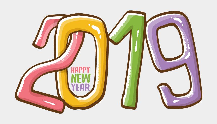 happy new year border clipart, Cartoons - 2019 Happy New Year 6 Vector - Vector Template Vector Happy New Year 2019 Clipart