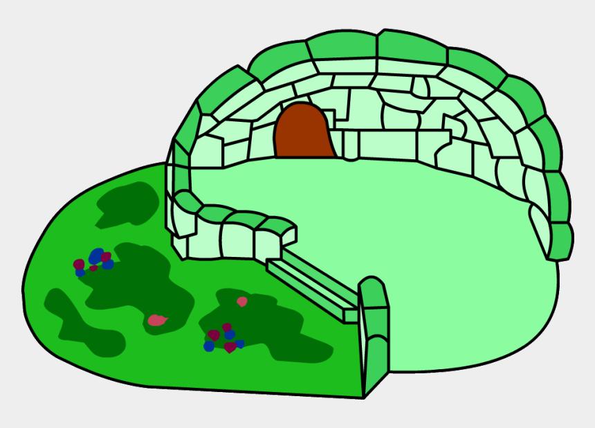 igloos clipart, Cartoons - Green Clover Igloo - Club Penguin Green Igloo