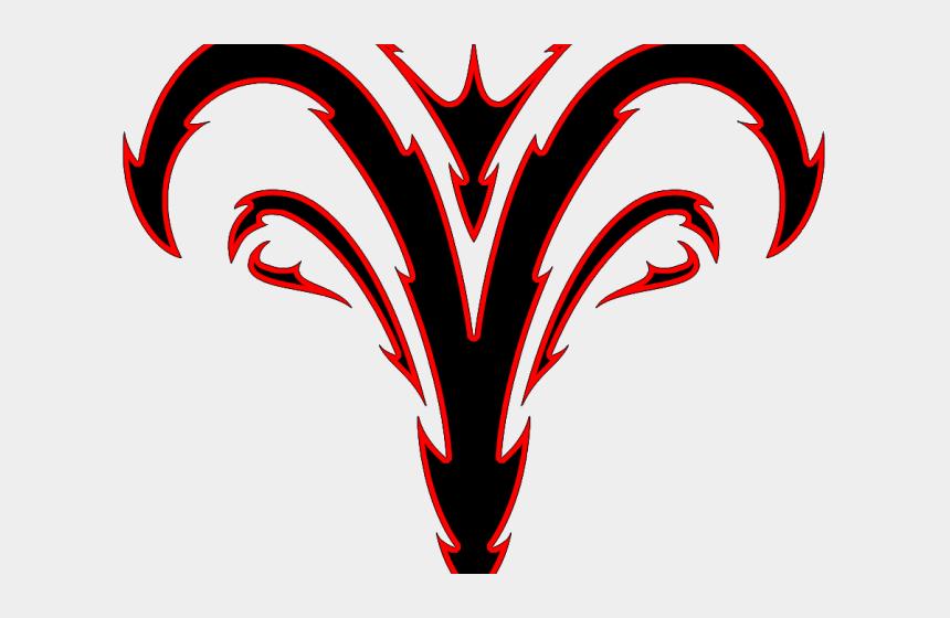 rams head clipart, Cartoons - Aries Clipart Cool - Tribal Aries Zodiac Symbol