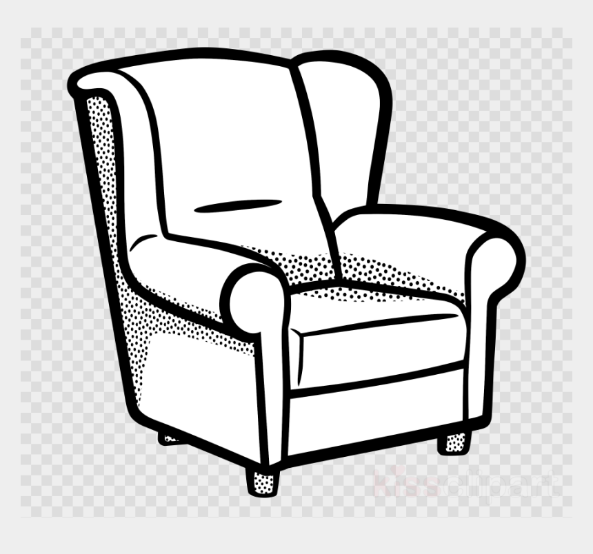 room clipart black and white, Cartoons - Living Room Coloring Page Clipart Table Living Room - Transparent Background Moon Clip Art