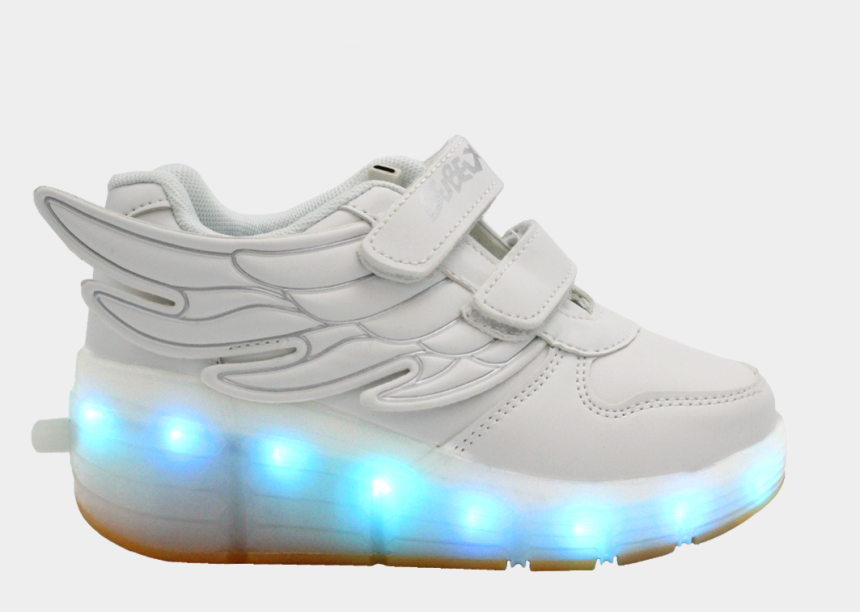 shoes with wings clipart, Cartoons - Galaxy Led Shoes Light Up Usb Charging Rolling Wings - Sneakers