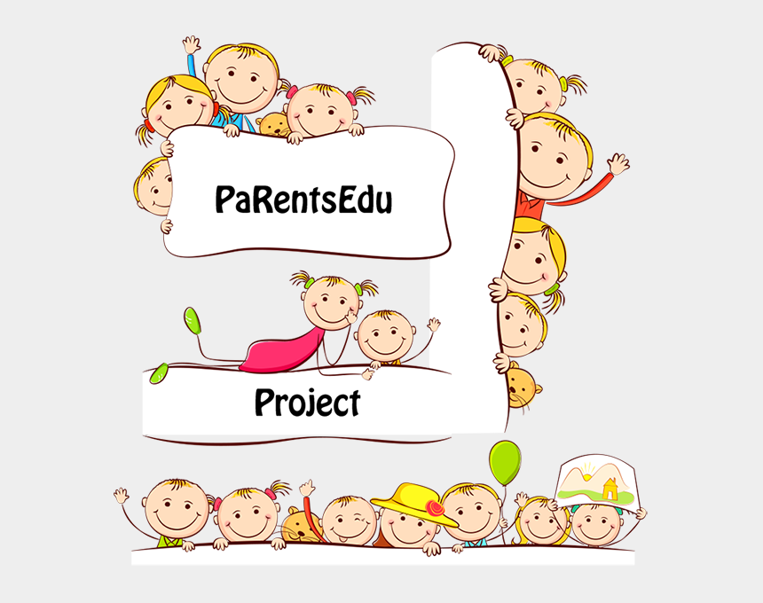 parent involvement in schools clipart, Cartoons - Active Parents Involvement In The Out Of School Education - Children Border Format