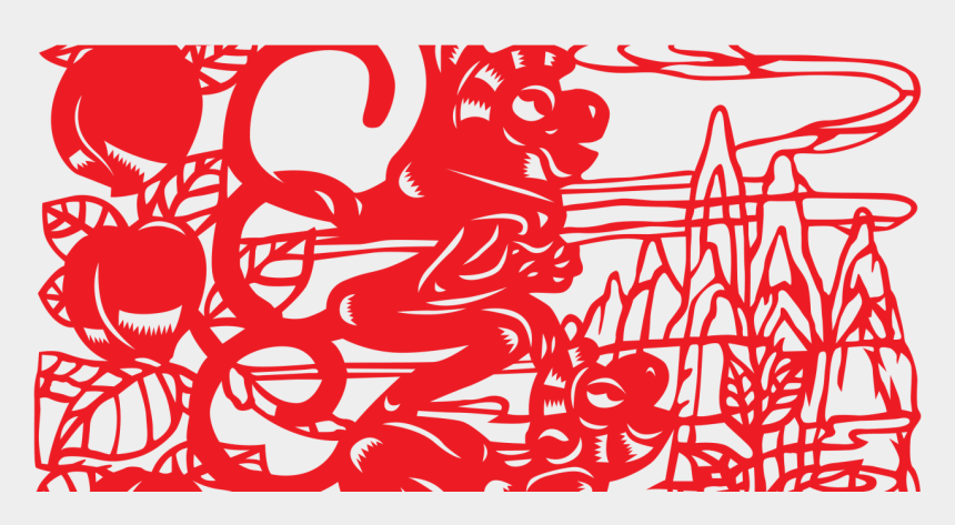 chinese new year 2015 clipart, Cartoons - 8 Lucky Foods For Lunar, Chinese New Year - Chinese Paper Cutting
