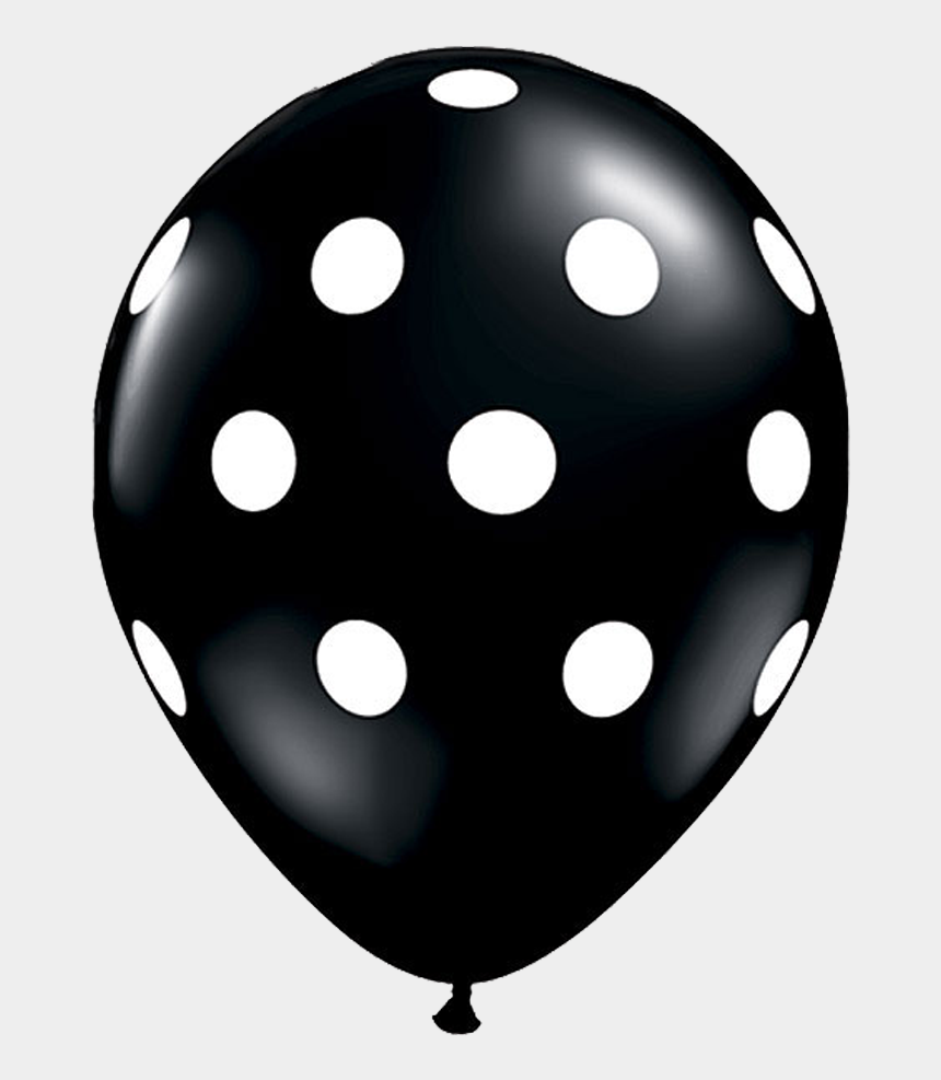 "black dots clipart, Cartoons - 11"" Black Polka Dot Balloon - Black Polka Dot Balloons"